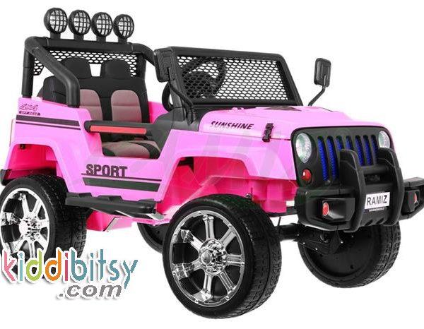 mobil aki jeep pink