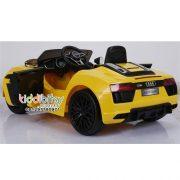audi-r8-spyder-mobil-aki-mainan-yellow-back