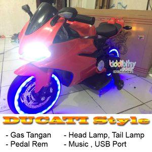 DUCATI Style Gas tangan Motor aki anak