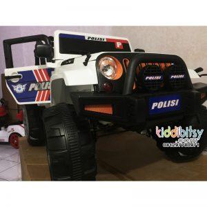 Jeep wrangler Rubicon POLISI 4wd Mainan