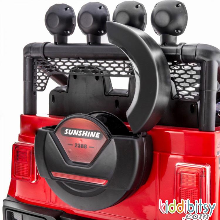 Jual Jeep Wrangler Style Merah Aws 2388 Mainan Mobil Aki